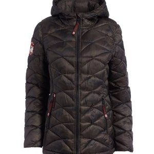 Camo Glacier Shield Hooded Puffer Coat